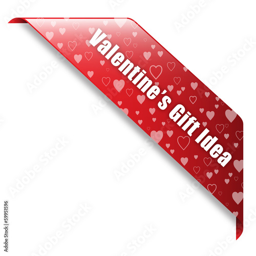 VALENTINE's GIFT IDEA banner (ribbon button her label stamp)