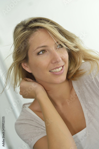 Portrait of attractive blond woman