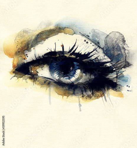 Juliste Woman eye . Hand painted fashion illustration
