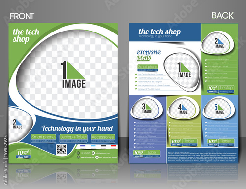 The Tech Shop Flyer Magazine Cover & Poster Template