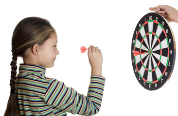 girl and darts