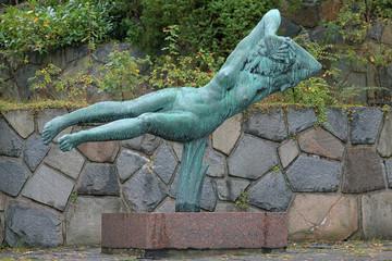 Hovering Woman sculpture in Millesgarden sculpture garden