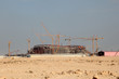 Construction of a stadium in Qatar, Middle East
