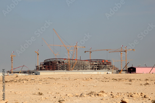 Poster Construction of a stadium in Qatar, Middle East