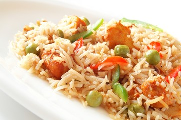 Indian chicken biriyani rice