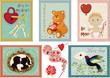 Valentine's day stamps collection