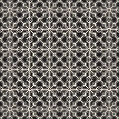 Abstract black and white geometric seamless pattern