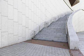 Access stairs in a modern building