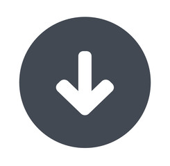Arrow down - Gray Solid icons