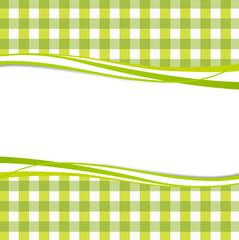 Hintergrund grün Karo Welle