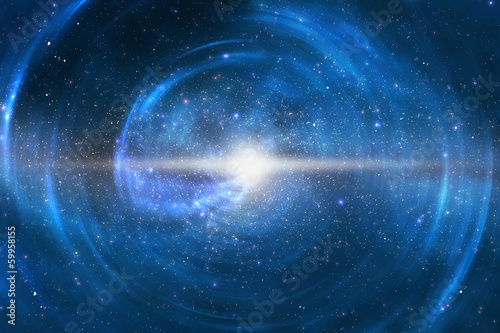 Time and space travel concept abstract background - 59958155