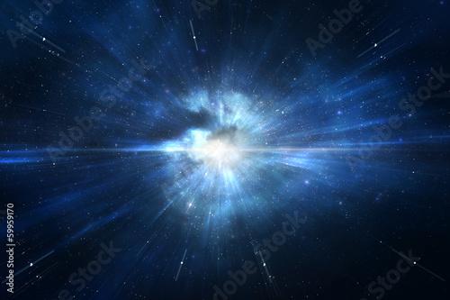 Tuinposter Ruimtelijk Star explosion time warp