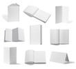 leaflet notebook textbook white blank paper template book
