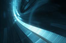 "Постер, картина, фотообои ""3D abstract futuristic background - Space travel - Teleport"""
