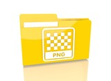 file folder with png file sign poster