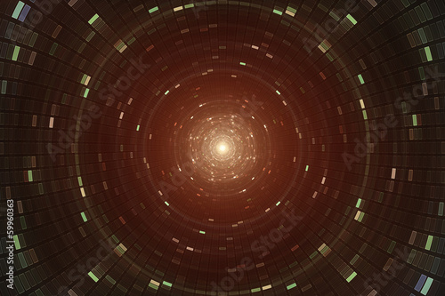 Abstrace science background - atomic particle accelerator