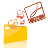 file folder with three pdf symbol