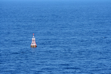 A warning buoy off the coast of Spain, Barcelona