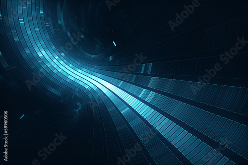 3D abstract futuristic background - Space travel - Teleport