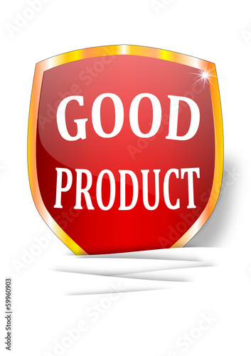 A label indicating the good product - vector