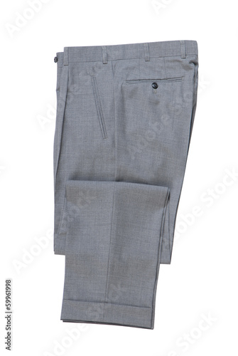 male grey classical trousers