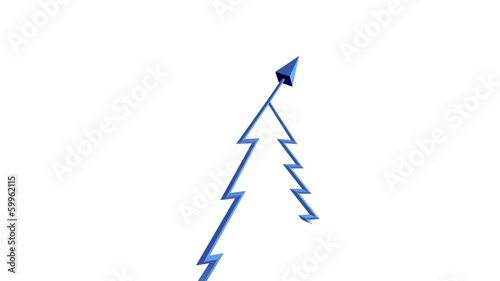 Chart background presentation using christmas tree shape