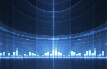 Abstract music equalizer background