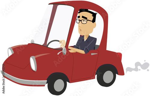 perso tertiaire moderne en voiture