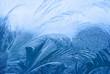 Ice pattern on winter glass