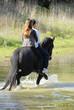 couple a cheval