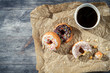 Donuts with coffee for a break