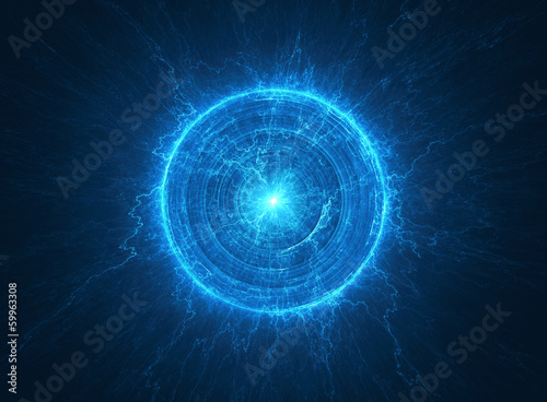 Abstract science background electromagnetic radioactive core