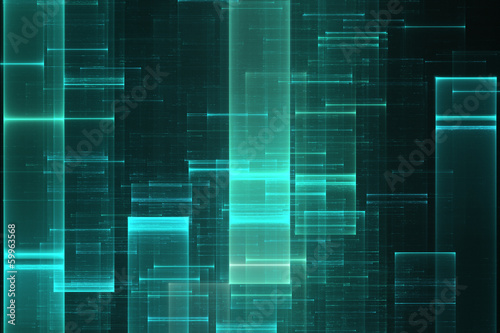 Abstract data stream matrix like background