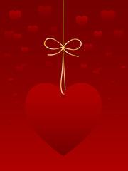 CARTE DE SAINT VALENTIN (je t'aime amour déclaration coeur)