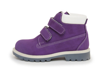 Purple children`s boot