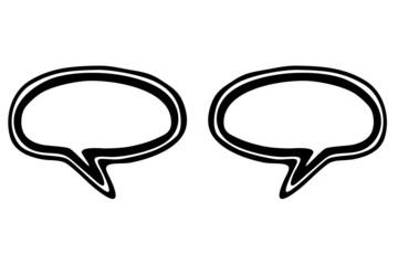doppel leere Sprechblasen