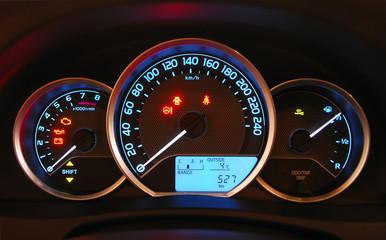 car illuminated dashboard