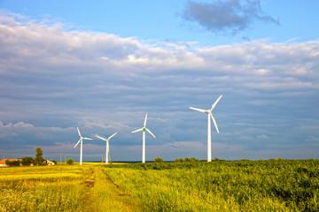 Renewable Energy Wind Power Windmill Turbines.