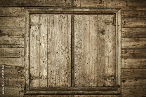 Old Wooden Window Poster