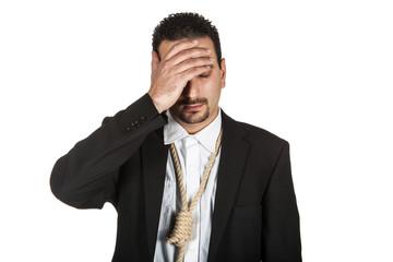 Suicidal businessman