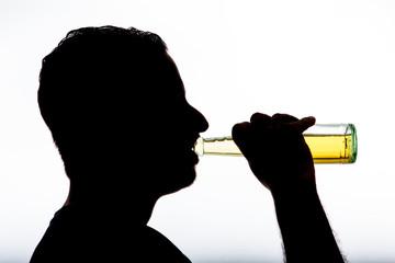 alcoholic with bottle