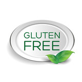 Gluten free label or button