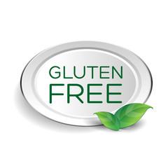 Gluten free label or button