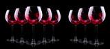 glass of red splashing wine - 59968187