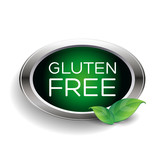 Gluten free label or badge