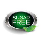 Sugar free label or badge