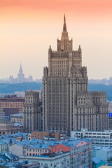 Russian Ministry of Foreign Affairs skyscraper in Moscow