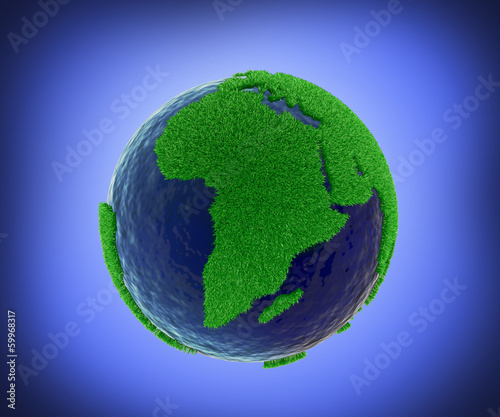 Eco world concept with  background , clipping path included
