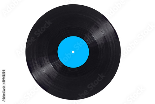 Leinwandbild Motiv vinyl record play music vintage