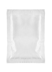white package template bag food